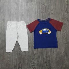 GENERIC Boys 2 Pcs Pyjama Set (NAVY - LIGHT GRAY) (3 Months to 4 Years)