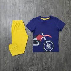 Boys 2 Pcs Pyjama Set (NAVY - YELLOW) (2 to 8 Years)