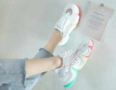 Ladies Sneakers ( WHITE-MULTY COLOR ) (36 to 40)