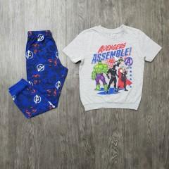 AVENGERS Boys 2 Pcs Pyjama Set ( GRAY - BLUE) (2 to 8 Years)