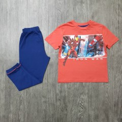 AVENGERS Boys 2 Pcs Pyjama Set ( ORANGE - BLUE) (3 to 8 Years)