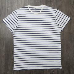 WOHOO Mens T-shirt (WHITE - BLUE) (L - XL - XXL)