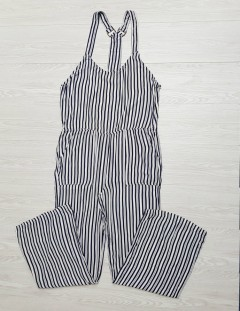 GENERIC Ladies Damen - Jumpsuit (NAVY-WHITE) (S - M - L)