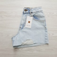 CALLIOPE Ladies Short Jeans (LIGHT BLUE) (XS - S - M - L - XL)