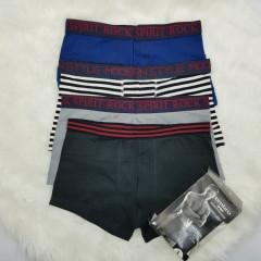 UMBRO SPORT Mens 3 Pcs Boxer Shorts Pack (Random Color) ( M - L - XL)
