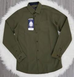 SPRIT Mens Long Sleeved Shirt (DARK GREEN) (S - M - L - XL)