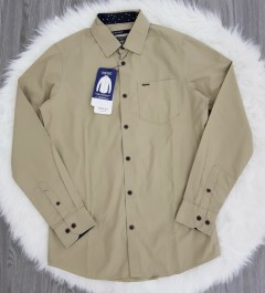 SPRIT Mens Long Sleeved Shirt (KHAKI) (S - M - L - XL)