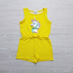 FOREVER ME Girls Romper (YELLOW) (3 to 6 Years)