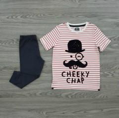 ALWAYS BE AWESOME Boys 2 Pcs  Pyjama Set (WHITE - DARK GRAY) (12 Month to 6 Years)