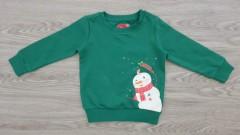 MERRY CHRISTMAS Boys Long Sleeved Shirt (GREEN) (92 to 152 CM)