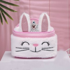 Cosmetic Bag (WHITE - PINK) (OS)