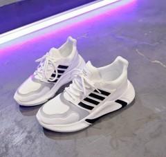 Ladies Shoes (WHITE - BLACK) (36 to 41)