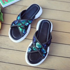 Ladies Sandals Shoes (BLUE - GREEN) (36 to 41)