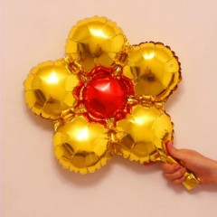Balloon With Flower Design (YELLOW) ( 33×33 )