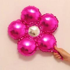 Balloon With Flower Design (PINK) ( 33×33 )