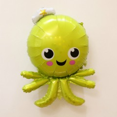 Balloon With Sea Animals Design (GREEN) ( 90×62 )
