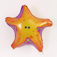 Balloon With Sea Animals Design (ORANGE) ( 61×61 )