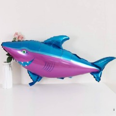 Balloon With Sea Animals Design (BLUE-PURPLE) ( 115×75 )