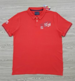 STRAIGHT UP Mens Polo Shirt (RED) (L - XL - XXL)
