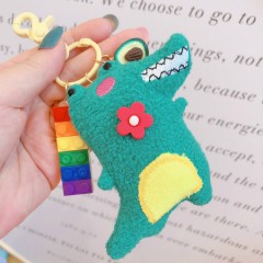 Key Ring (GREEN - BLUE) (One Size)