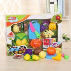 8 Pcs Set Kitchen Toy Plastic Fruit Vegetable Food Cutting Pretend Play Toys (MULTI COLOR) (ONE SIZE)
