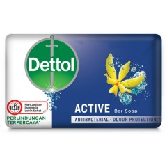 Dettol   AntiBacterial Active Bar Soap to protect your family from germs (65 g) (mos)