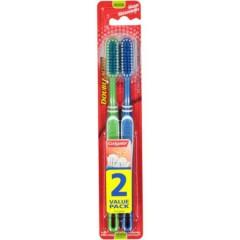 Colgate 2 Pcs Pack Toothbrush - Double Action (RANDOM COLOR) (MOS)