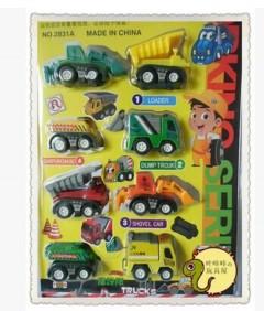 8 Pcs Trucks Toys (AS PHOTO) (ONE SIZE)