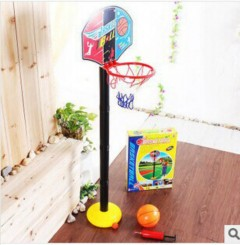 TOP ONE Kids Sports Portable Basketball Toy Set with Stand & Pump Toddler Baby Durable (as photo) 115cm)
