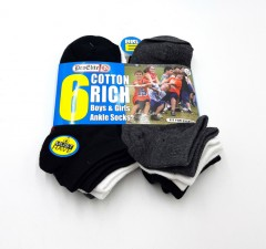 PRO ELITE Girls And Boys Socks 6 Pcs Pack (AS PHOTO) (3 to 14 years)