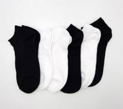 FITTER Mens Sports Socks 6 Pcs Pack (BLACK - WHITE) (FREE SIZE)