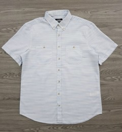LC WAIKIKI Mens Sleeve Shirt (WHITE - LIGHT BLUE) (L - XL - 2XL - 3XL)