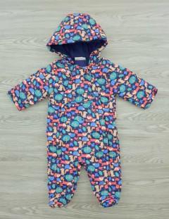 LILY - JACK Boys Ramper Jacket Hooded Jumpsuite (KHAKI) (3 to 12 Months)