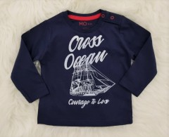 Boys Long Sleeved Shirt (NAVY) (6 to 36 Months)