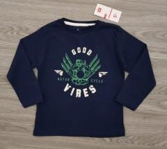 ZYKIDS Boys Long Sleeved Shirt (NAVY) (3 to 4 Years)