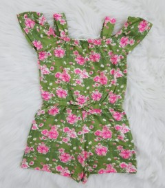 FOREVER ME Girls Romper (GREEN) (2 to 6 Years)