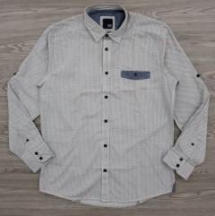 JACK AND JONES Mens Long Sleeved Shirt (GRAY - WHITE) (L)