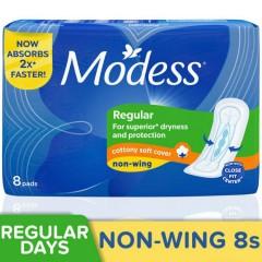 MODESS Cotton Soft Non-Wing Sanitary Napkins 8s (Exp: 09.MAR.2023) (MOS)
