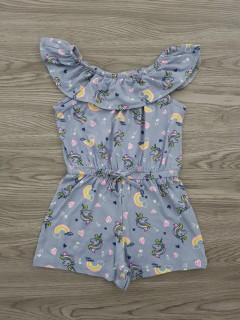 FOREVER ME Girls Romper (GRAY) (2 to 10 Years)