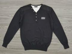 IDENTIC Mens Sweater (BLACK) (S - M - L - XL)