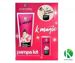 EVERYDAY 3 Pcs set K Magic Pampa Kit (Magic Facial Wash,Magic Brightening Mi-cellar Toner,Magic Facial cream) (MOS)