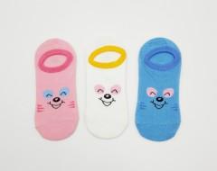 BAROTTI Girls Socks 3 Pcs Pack (RANDOM COLOR) (7 to 11 Years)