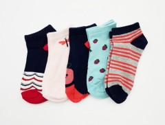 BAROTTI Girls Socks 5 Pcs Pack (RANDOM COLOR) (5 to 9 Years)