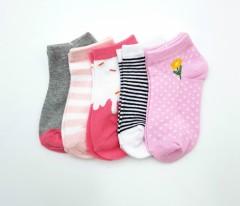 BAROTTI Girls Socks 5 Pcs Pack (AS PHOTO) (3 to 11 Years)
