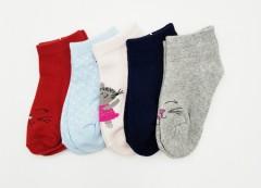 BAROTTI Girls Socks 3 Pcs Pack (RANDOM COLOUR) (5 to 7 Years)