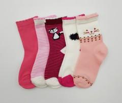 BAROTTI Girls Socks 5 Pack (RANDOM COLOR) (3 to 5 Years)