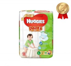 HUGGIES  Gold Pants (L 9-14KG) (44Pcs) (MOS)