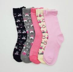 BAROTTI Girls Socks 5 Pcs Pack (AS PHOTO) (5 to 7 Years)