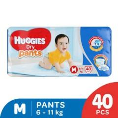 HUGGIES  Dry Pants (M 6-11KG) (40Pcs) (MOS)