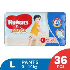 HUGGIES  Dry Pants (L 9-14KG) (36PCS) (MOS)